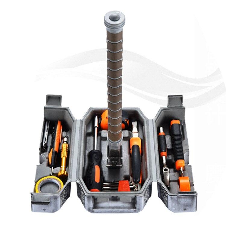 Nouveau comique marteau outil ensemble maison outils à main boîte THOR marteau non inclus kinf et crayon de test