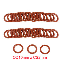 OD10mm*CS2mm high temperature silicone colored rubber o ring seals