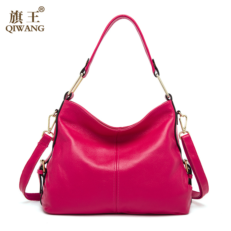 qiwang 100% genuíno bolsa de Material : Top Layer Pebble Cowhide Leather