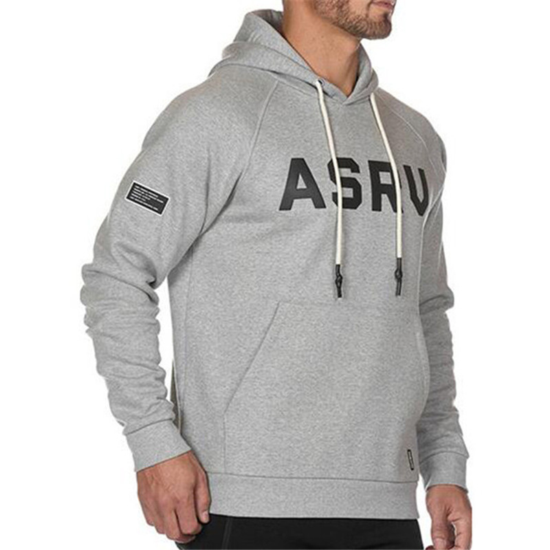 2019 Autumn Winter Men Hooded Sweatshirts Letter Cotton Gyms Fitness Hooded Jacket Men's Long Sleeves Sportswear Brand Hoodies