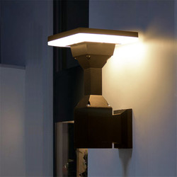BEIAIDI 12W zewnętrzne oświetlenie ścienne LED filar lampa do montażu na powierzchni przejściach i korytarzach korytarz naścienne oświetlenie ogrodowe willa na zewnątrz hotelu kinkiety ścienne w Zewnętrzne lampy ścienne od Lampy i oświetlenie na