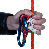 Rock Climbing Handle Control Non Confusion Abseiling Device Stop Descender Outdoor Rappelling Rescue For Outdoor Sport