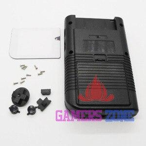Image 3 - 4 قطعة أسود رمادي الكامل شل الإسكان استبدال إصلاح حزمة حالة غطاء ل عبة فتى GB الكلاسيكية DMG