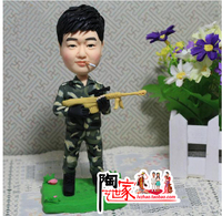 2019 birthday cake topper wedding Christmas decoration iicustom wedding Toys Polymer Clay Doll From Pictures gift