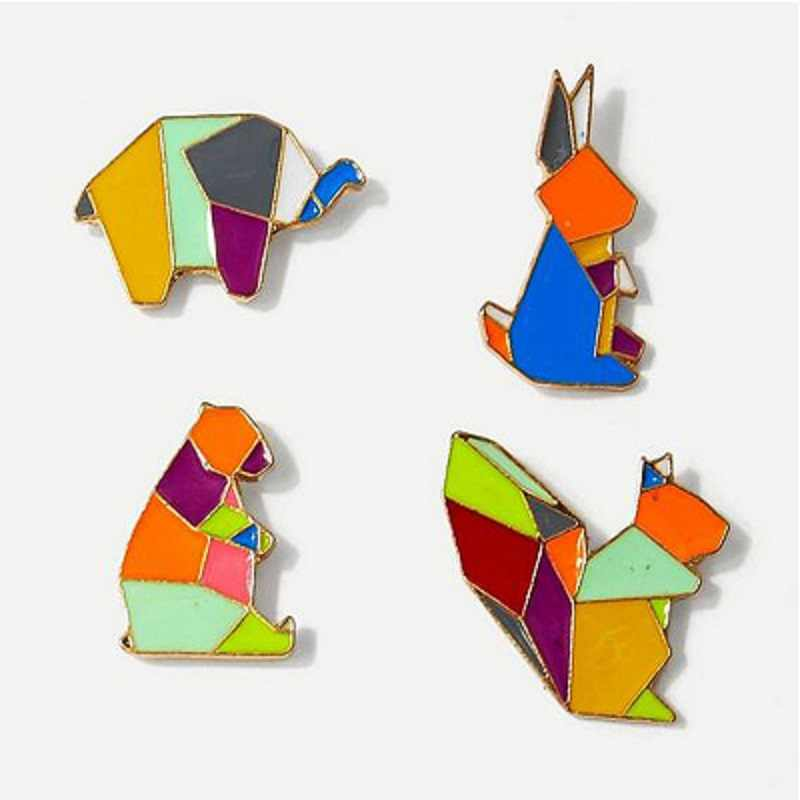 Xedz Lucu Biru Burung, Penguin, Sayap Unicorn Berwarna-warni, warna-warni Hewan Paduan Bros Perhiasan Lucu Hewan Bros Set