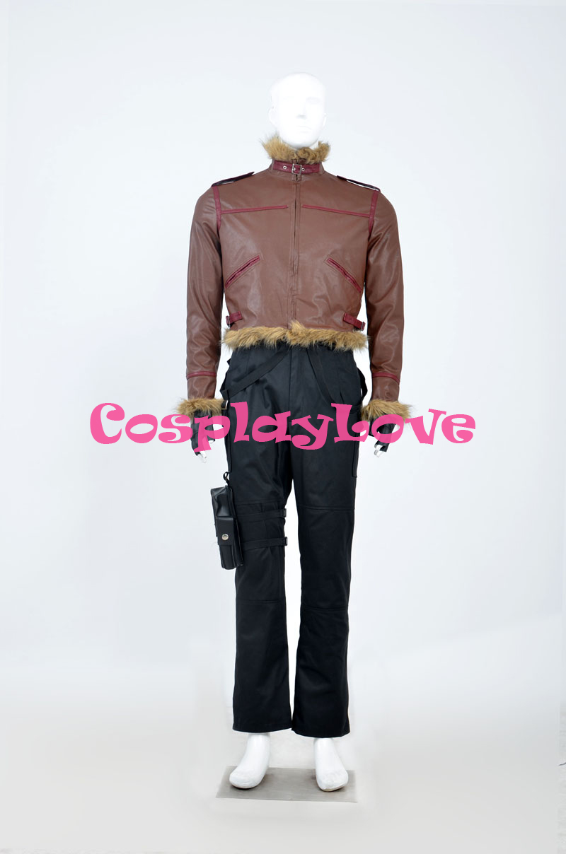 New Custom Made High Quality America Movie Resident Evil Leon Scott Kennedy Cosplay Costume For Halloween