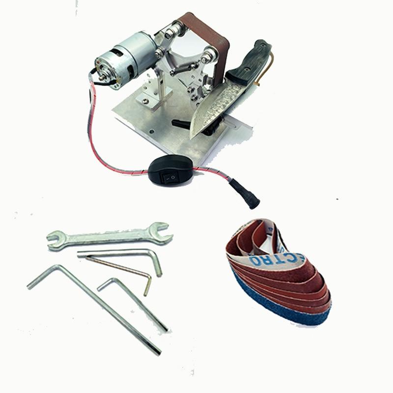 WW third version Electric Mini Abrasive Belt machine work sharp knife sharpener sharpening system Knife Open V tool-in Sharpeners from Home & Garden    3