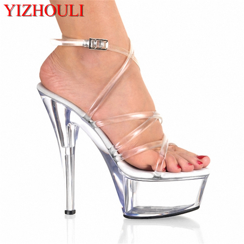 15cm ultra high heels sexy sandals platform crystal shoes the bride wedding shoes professional customize 15cm ultra high heels sandals platform bride 6 inch wedding shoe women s slippers sexy lips crystal shoes