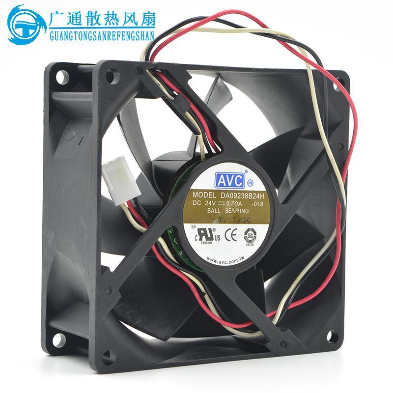 Original AVC DA09238B24H 9CM 9038 24V 0.70A 92 * 92 * 38mm3 line violent inverter cooling fan