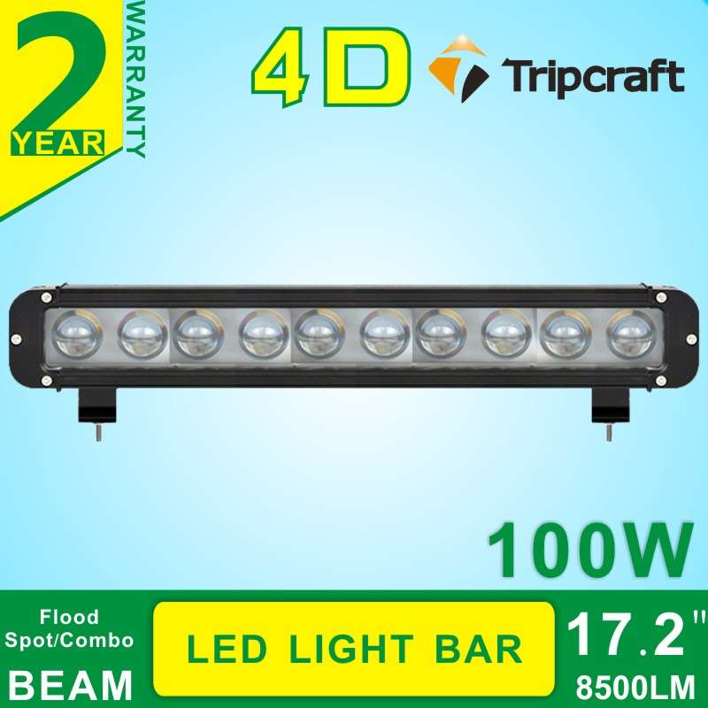 17.2''inch 100w led light bar offroad 4D lamp for Truck Boat Ute Car SUV ATV  4WD spot+flood combo led drving work bulb lamp