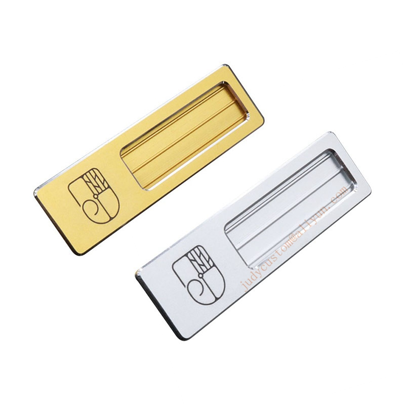20pcs custom ENGRAVED name tag with safety pin aluminum name badge holder personalized employee id badge (13)
