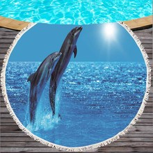 Blue Stripe Whale Print Large Size Thicken Bath Towel No Formaldehyde