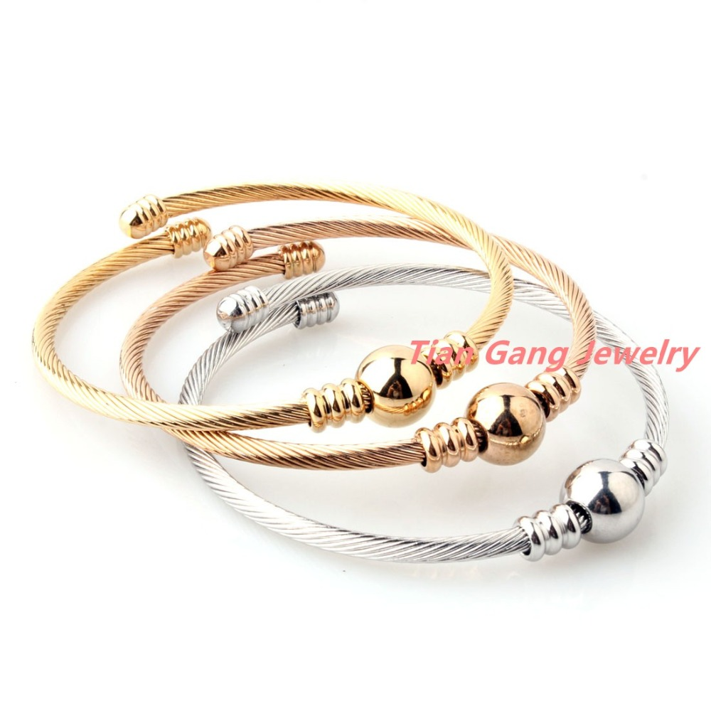 3pcs/Set Delicate Jewelry 316L Stainless Steel Silver/Gold/Rose Gold ...