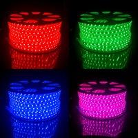 100m/roll LED RGB Strip Light 5050 60 led/m 220V 240V Waterproof Ribbon for Outdoor Garden Bridge Park Hotel Building Decoration