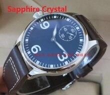 Saphir cristal 44mm PARNIS ST3621/6498 Mécanique Main Vent mouvement Mécanique montres hommes de montres en gros o11