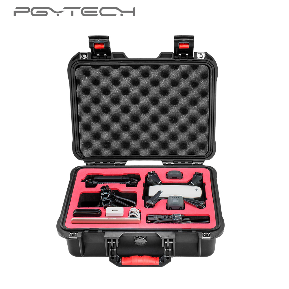 PGYTECH safety carrying case for Spark Camera Drone Accessories Waterproof Hard EVA foam Equipment Carrying Fpv RC parts easttowest dji spark accessories hard shell dji spark backpack waterproof storage bag for spark body remote all accessories