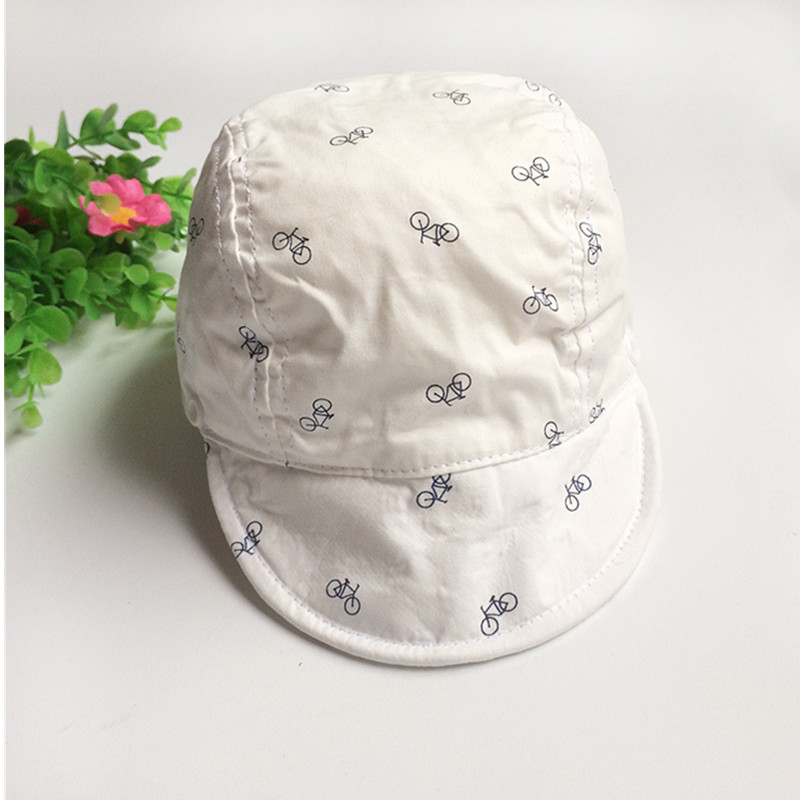 119b373fe9d8c Baby Boy Sun Hats Summer Baseball Caps with Shawl Autumn Baby Hat Kids Boy  Cap New Fashion Bicycle Sun Cap for Girls 3M to 24M-in Hats   Caps from  Mother ...