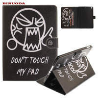 For New IPad 9 7 2017 Cover Dont Touch MY Pad Synthetic Leather Flip Stand Protective