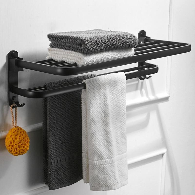 dfrkjhre black carved base bathroom shelf with hook