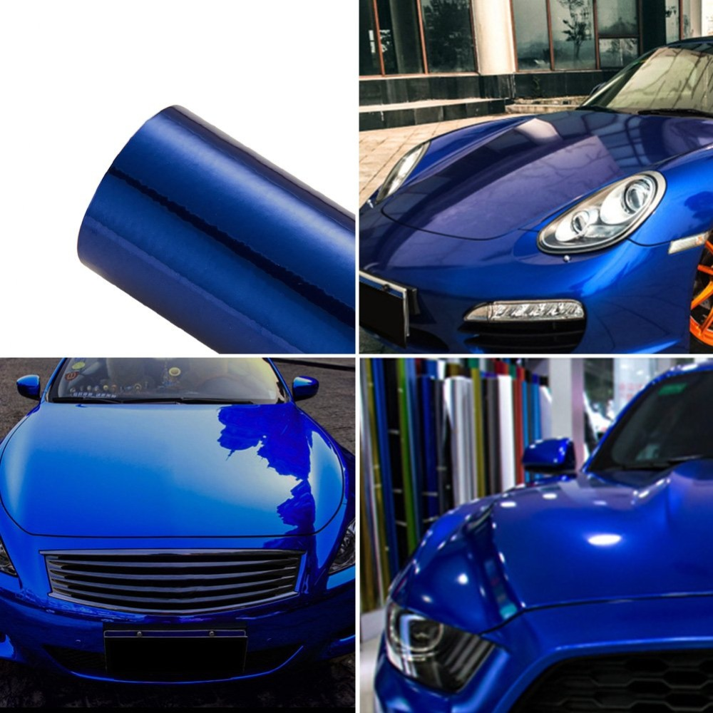 VINYL FROG Vehicle Wrap Vinyl Matte Black Stretchsble Air Release PVC DIY Decals 12x60
