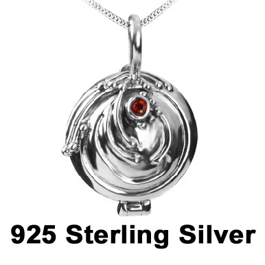 925 Sterling Silver The Vampire Diaries Elena Vervain Necklace Box Pendant Necklace high quality fashion women