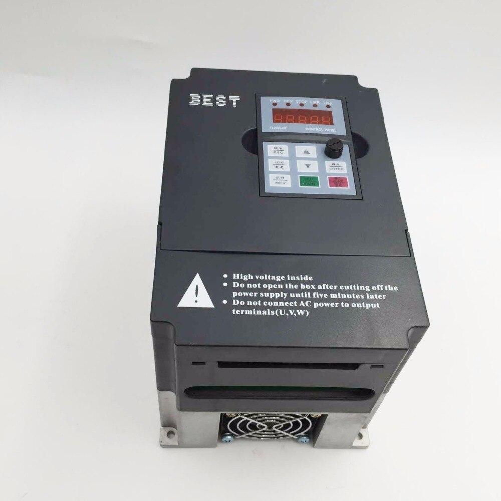 Falownik VFD 1.5kw 2HP jednofazowy 220V 0-1000hz 7A napęd wrzeciona specjalny do grawerowania CNC FC300-1.5G-T2