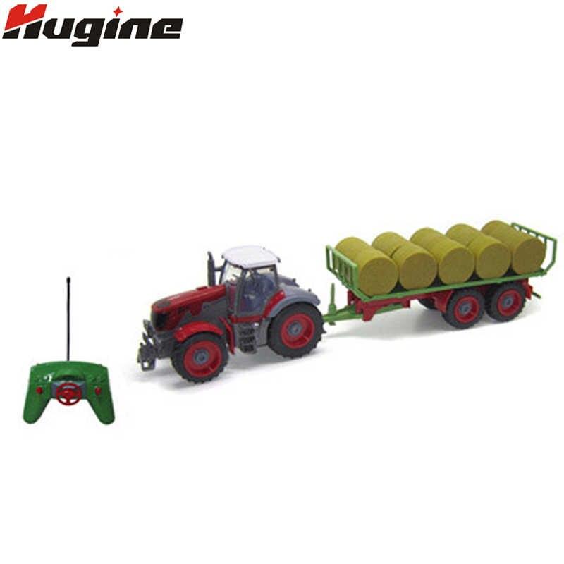 RC Truk Baru Pertanian Traktor 2.4G Multi Fungsi 4 Traktor Roda Insinyur Kendaraan Traktor Model Anak Hobi mainan & Hadiah