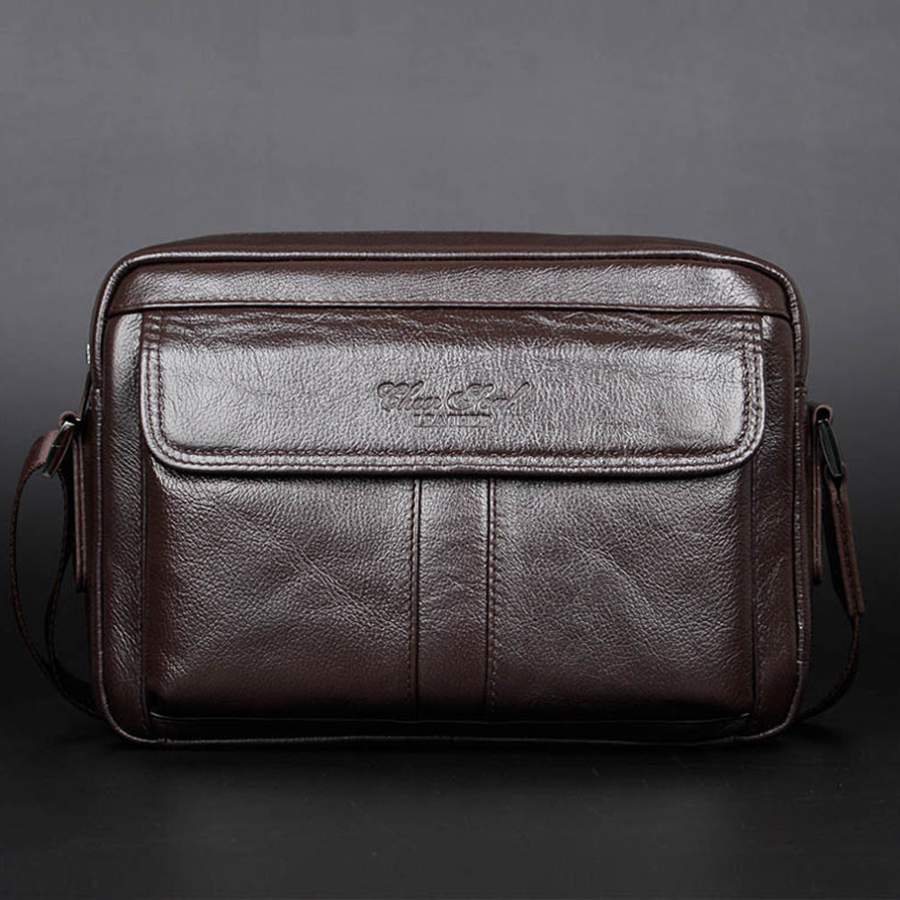 New Men Business Casual Genuine Leather First layer Cowhide Messenger Shoulder Satchel Tablet Bag new style simple casual first layer of cowhide male one shoulder bag genuine leather men s handbag business messenger small bag