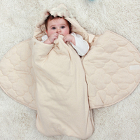 Bunting weiche DECKE baumwolle wrap sleep baby bettwäsche set infant warm swaddle babyschlafsack dick neugeborenen umschlag