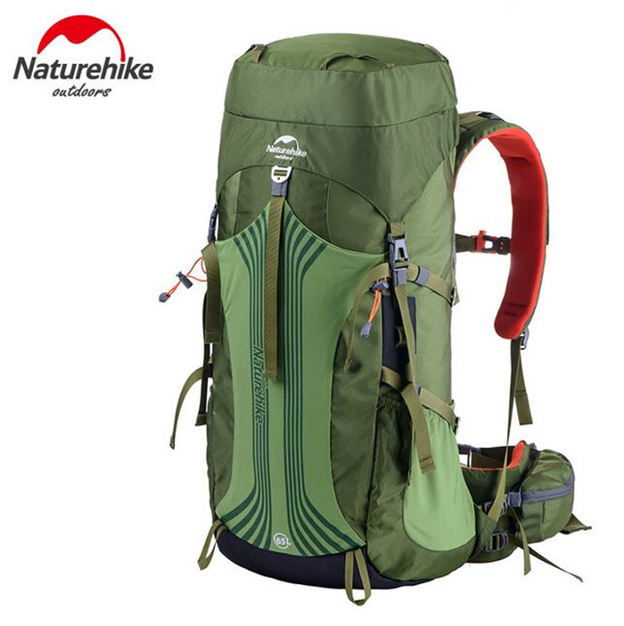 NatureHike Men Women Outdoor Camping Bag 65L 55L Hiking Climbing Rucksack Large Capacity  Sport Waterproof backpack 8l naturehike ultralight outdoor single shoulder bag multifunctional climbing backpack waterproof sport bag