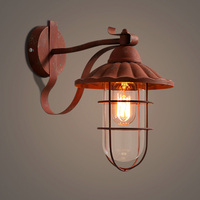 American retro wall lamps loft industrial style clothing store aisle wall lighting to do the old iron doors light ZA825648