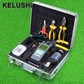 KELUSHI 25 шт. FTTH Hot Melt сварка tool kit с HS-30 кливер 10 МВт Визуальный Дефектоскоп и измеритель мощности волокна зачистки инструмент