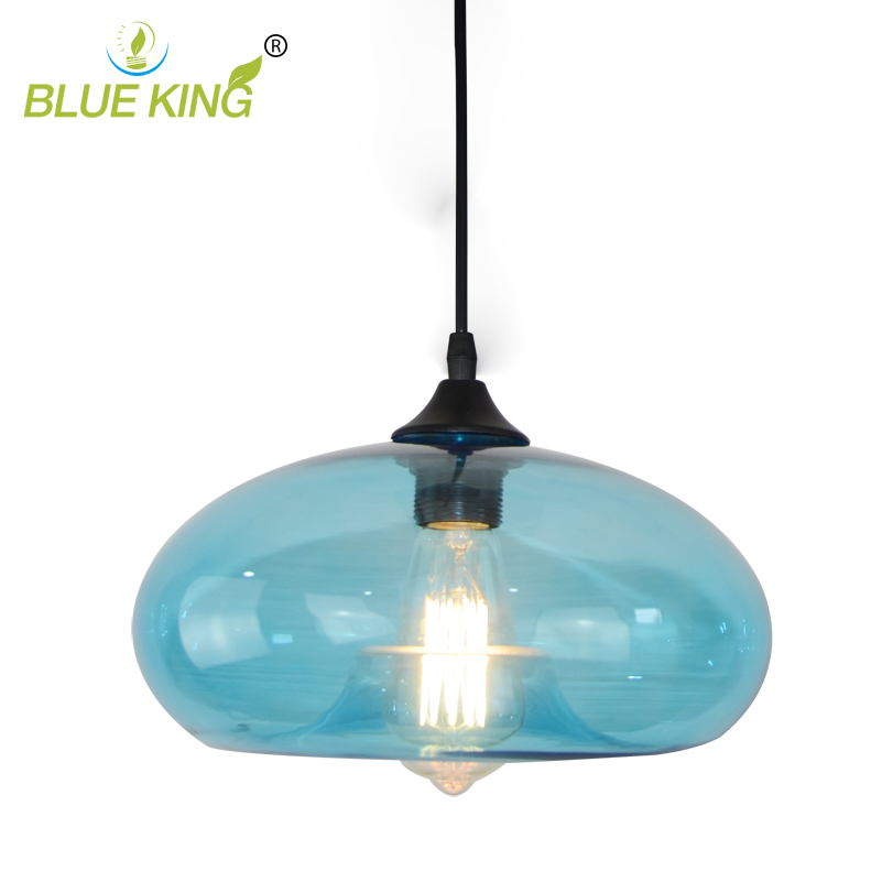 New Simple Modern Contemporary Pendant Lights Loft hanging Kitchen Restaurant Lustres Glass ball E27 LED Bulbs Pendant Lamp modern colorful color stone glass pendant lights retro hanging restaurant lustres g4 led bulbs fixture indoor lighting