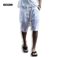 2016 New Summer Punk Shorts Fashion Casual Street Men Daily Leisure Three Strands Rope All Match
