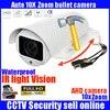 2017 New Arrival Rotary PTZ Bullet Camera 10X Motorized Zoom Lens Full HD 1080P 2 0MP
