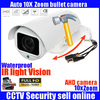 2017 New Arrival Rotary PTZ Bullet Camera 10X Motorized Zoom Lens Full HD 1080P 2 0MP