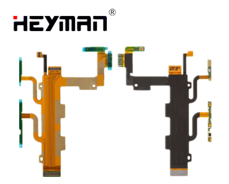 Heyman Flex Cable for Sony Xperia C3 Dual D2502 D2533 S55T S55U(side buttons start button,microphone,with components)flat cable