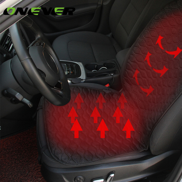 Onever Car Heated Seat Cushion Heating Pad Cover Hot Warmer With Built In Thermostat HI