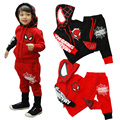 2017 Spring Autumn Children Clothing Sets Baby Boys Sports Suit 2 pcs T-Shirt +Pants Kids Spiderman Clothes Set  Boys Tracksuit