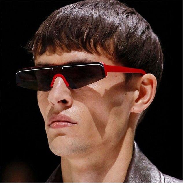 b58495c406f1 Small Flat Top Sunglasses 2019 New Designer Cool Brand Sun Glasses For Men  Points Retro Eyewear for Female Gafas de sol mujer