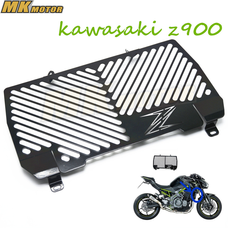 BYSPRINT Free shipping Motorcycle Accessoris Z 900 radiator grille guard protection For Kawasaki Z900 2017 for kawasaki z900 2017 radiator guard grill protection for kawasaki z 900 2017 motorcycle parts accessories free shipping
