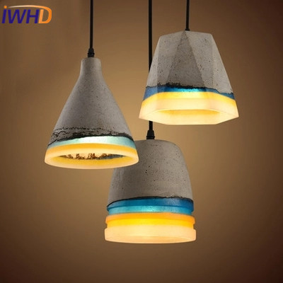 IWHD Gypsum Vintage Lamp Loft Industrial Lighting Pendant Lights Retro Iron Hanging Light Fixtures Kitchen Luminaire Lampara new loft vintage iron pendant light industrial lighting glass guard design bar cafe restaurant cage pendant lamp hanging lights