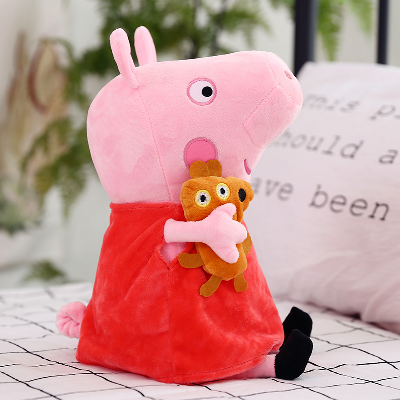 Peppa Pig Family George Dad Mom 25 CM Pelucia Stuffed Doll Plush Toys For Children Gifts