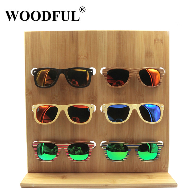 b49818e675 Woodful Handmade Sunglasses Stand Rack Eyeglasses bamboo display reading  glasses holder