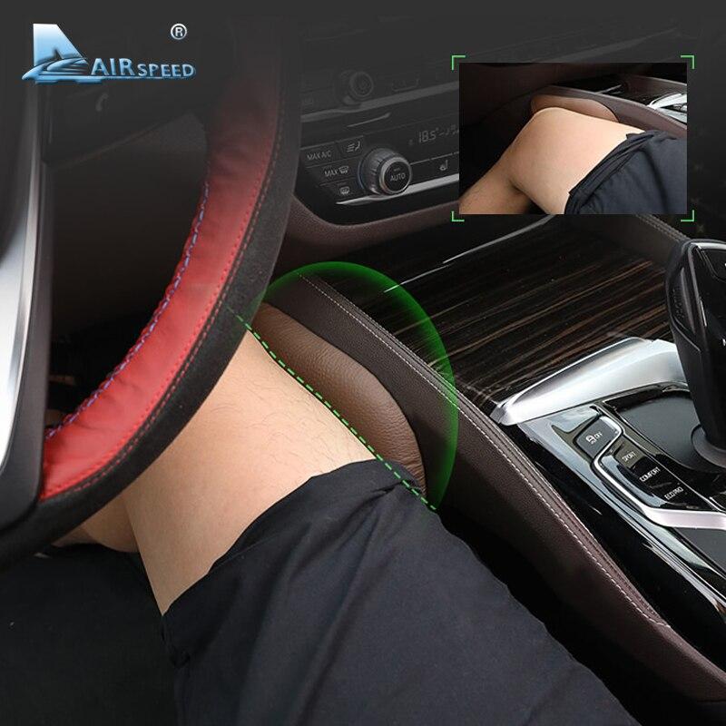 Airspeed Leather Leg Cushion Knee Pad Thigh Support Pillow Interior Car Accessories for BMW E46 E39 E60 E90 E36 F30 F10 X5 Z4 7