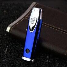 Mới Ống Bật Lửa Hộp Quẹt Turbo Bật Lửa Kép 2 Vòi Phun Bút Khí Phun Lửa Chống Gió Kim Loại Phản Lực Cigar Lighter 1300 C