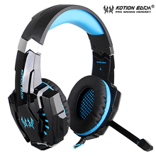 цена на KOTION EACH G9000 Professional Casque Gaming Headset Stereo Deep Bass LED Wired Headphones Game with Mic For Computer PC PS4
