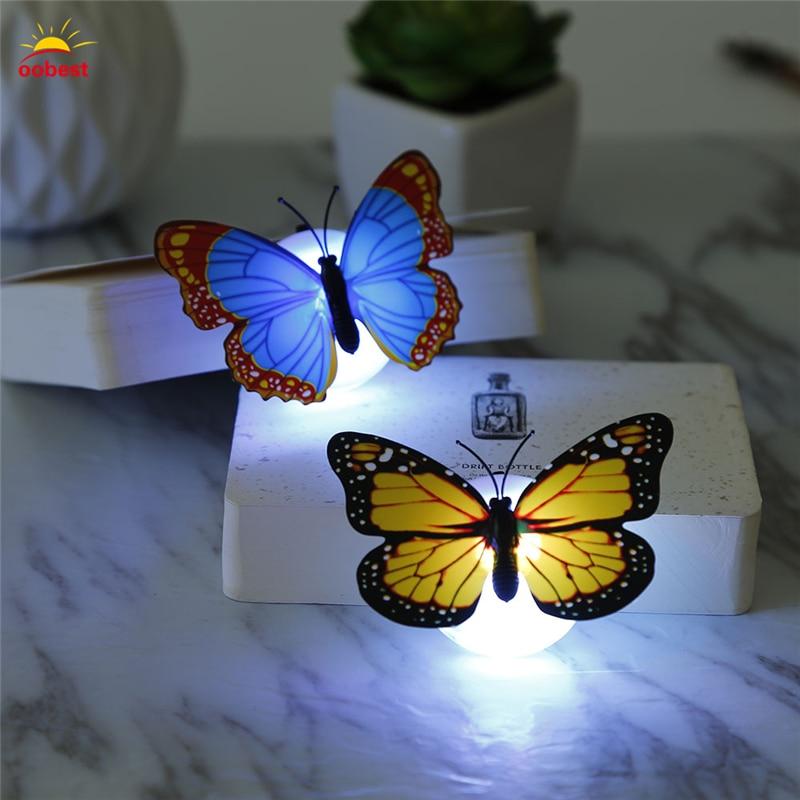 Luzes da Noite 10 pcs levou borboleta luz Tipo3 : 10 Peças/lote Wall Stickers Wall Decoration Butterfly Butterfly Led