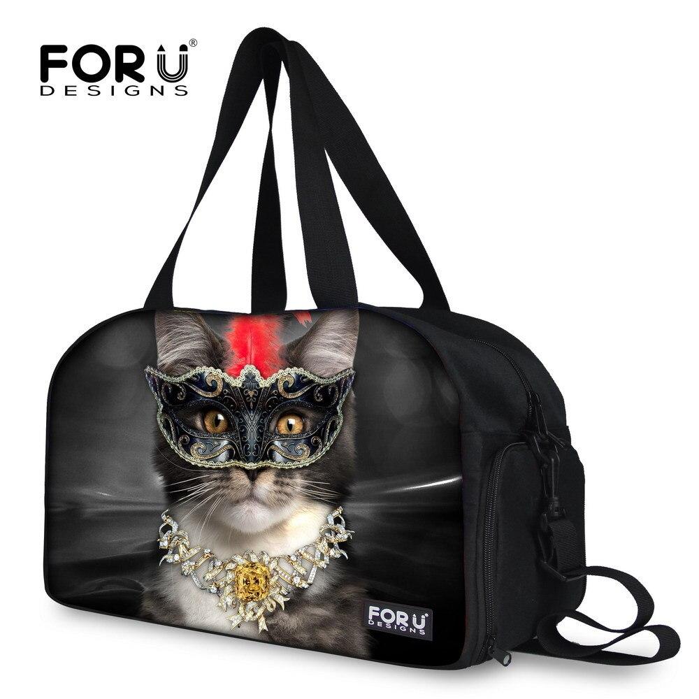 bfe08c18db1b Fashion Animal Cat Printing Travel Luggage Bag Handbag for Women Large Size  Travel Duffle Bag Organizer Shoulder Handbag