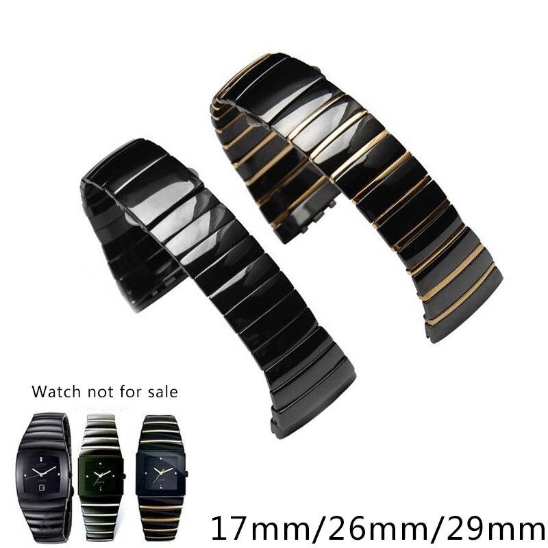 Shengmeirui Ceramic Watchband High Quality Watch Strap 17mm 26mm 29mm Men Women Bracelet For Rado Sintra Series